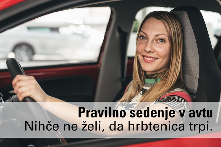 Pravilno sedenje v avtomobilu vožnja